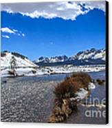 Looking Up The Salmon River Canvas Print by Robert Bales