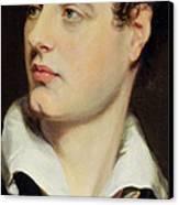 Lord Byron Canvas Print by William Essex