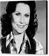 Loretta Lynn Smiling Canvas Print by Retro Images Archive