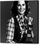 Loretta Lynn With Award Canvas Print by Retro Images Archive