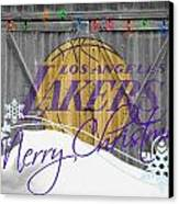 Los Angeles Lakers Canvas Print by Joe Hamilton