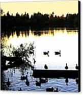 Lost Lagoon At Sundown Canvas Print by Will Borden