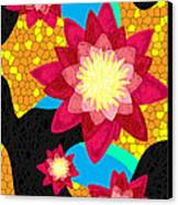Lotus Flower Bombs In Magenta Canvas Print by Pierre Louis