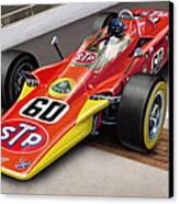 Lotus Stp Indy Turbine Canvas Print by David Kyte