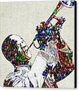 Louie Armstrong 2 Canvas Print by Jack Zulli