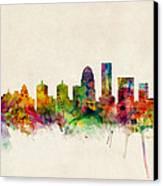 Louisville Kentucky City Skyline Canvas Print by Michael Tompsett