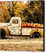Loukonen Farms Pumpkin Truck Canvas Print by Catherine Fenner
