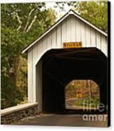 Loux Bridge And Sharp Left - Bucks County  Canvas Print by Anna Lisa Yoder