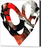 Love 18- Heart Hearts Romantic Art Canvas Print by Sharon Cummings