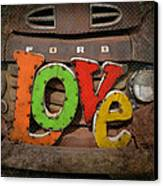 Love And A Ford Truck Canvas Print by Carla Parris