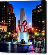 Love At Night Canvas Print by Nick Zelinsky