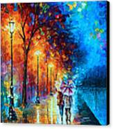 Love By The Lake Canvas Print by Leonid Afremov