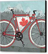 Love Canada Bike Canvas Print by Andy Scullion