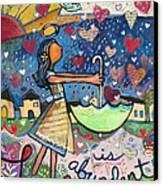 Love Is Abundant Canvas Print by Jen Norton