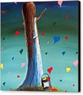 Love Is Beautiful By Shawna Erback Canvas Print by Shawna Erback