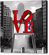 Love Isn't Always Black And White Canvas Print by Paul Ward