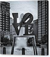 Love Park Bw Canvas Print by Susan Candelario