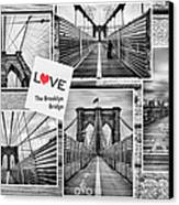 Love The Brooklyn Bridge Canvas Print by John Farnan
