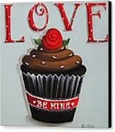 Love Valentine Cupcake Canvas Print by Catherine Holman