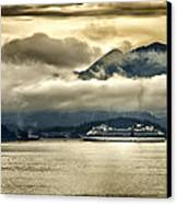 Low Clouds - Half Speed Canvas Print by Jon Berghoff