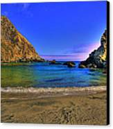 Low Tide At Big Sur Canvas Print by John Absher