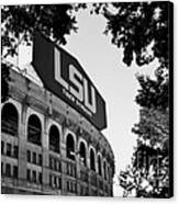 Lsu Through The Oaks Canvas Print by Scott Pellegrin