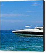 Luxury Boat Canvas Print by Aged Pixel