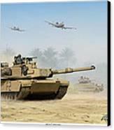 M1a2 Abrams Canvas Print by Mark Karvon