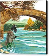 Macduff Fishing Canvas Print by Margaryta Yermolayeva