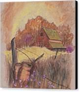 Macgregors Barn Pstl Canvas Print by Carol Wisniewski