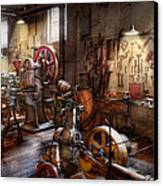 Machinist - A Room Full Of Memories  Canvas Print by Mike Savad