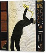 Mad Sax #2 Canvas Print by Aisha Lumumba