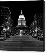Madison Wi Capitol Dome Canvas Print by Trever Miller