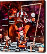 Madness In The Hatter's Realm Canvas Print by Putterhug  Studio