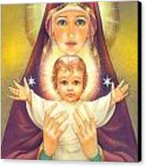 Madonna And Baby Jesus Canvas Print by Zorina Baldescu