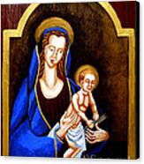 Madonna And Child Canvas Print by Genevieve Esson