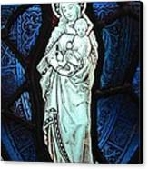 Madonna And Child Canvas Print by Gilroy Stained Glass