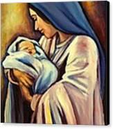 Madonna And Child Canvas Print by Sheila Diemert