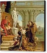 Maecenas Presenting The Liberal Arts To The Emperor Augustus Canvas Print by Giovanni Battista Tiepolo