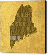 Maine Word Art State Map On Canvas Canvas Print by Design Turnpike