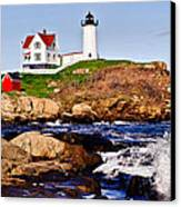 Maine's Nubble Light Canvas Print by Mitchell R Grosky