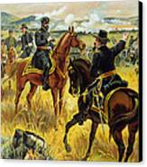 Major General George Meade At The Battle Of Gettysburg Canvas Print by Henry Alexander Ogden