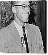Malcolm X Canvas Print by Ed Ford