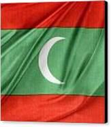 Maldives Flag Canvas Print by Les Cunliffe