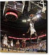 Mamadi Diane Dunk Against Boston College Canvas Print by Jason O Watson