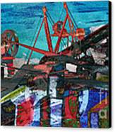 Man And Machines Canvas Print by R Kyllo