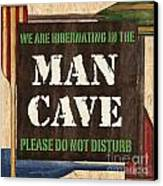 Man Cave Do Not Disturb Canvas Print by Debbie DeWitt