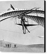 Man Gliding In 1883 Canvas Print by Underwood Archives