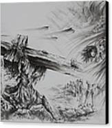 Man Of Sorrows Canvas Print by Rachel Christine Nowicki