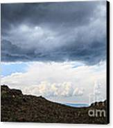 Man On Mountain Canvas Print by Konstantin Sutyagin